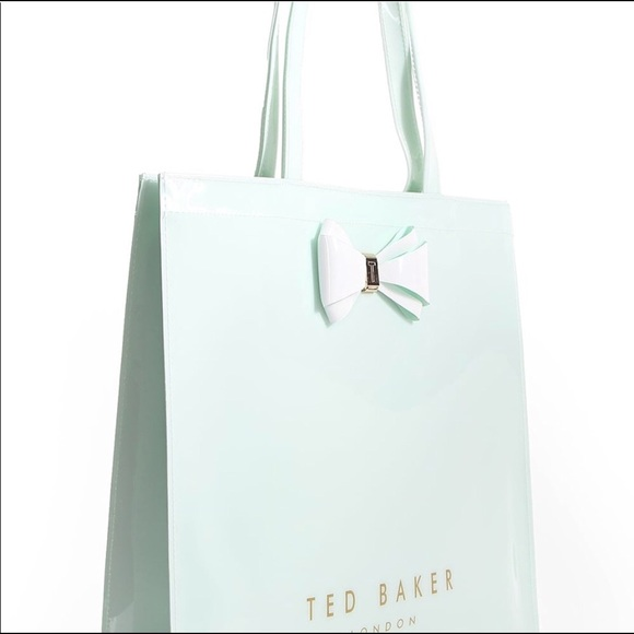 9b50dd63041 Ted Baker London Bags | Very Rare Ted Baker Icon Tote In Mint Green ...